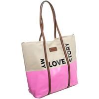 Tasker Dame Håndtasker m. kort hank Monnari 67960 Beige, Pink