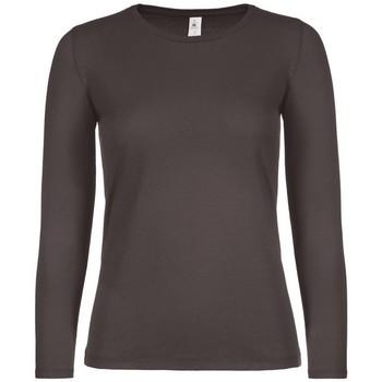textil Dame Langærmede T-shirts B And C TW06T Bear Brown