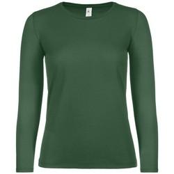 textil Dame Langærmede T-shirts B And C TW06T Bottle Green