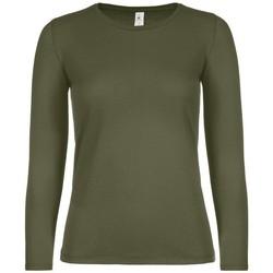 textil Dame Langærmede T-shirts B And C TW06T Urban Khaki