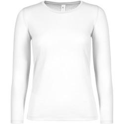 textil Dame Langærmede T-shirts B And C TW06T White
