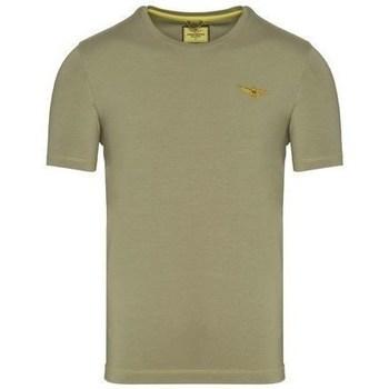 textil Herre T-shirts m. korte ærmer Aeronautica Militare TS1819 Oliven