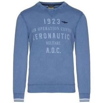 textil Herre Pullovere Aeronautica Militare MA1327L43421 Blå
