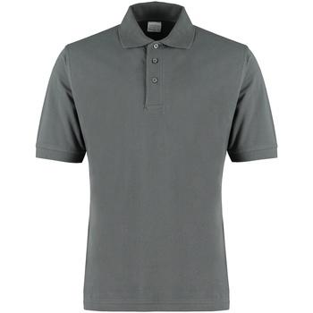 textil Herre Polo-t-shirts m. korte ærmer Kustom Kit KK460 Dark Grey