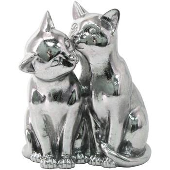 Indretning Små statuer og figurer Signes Grimalt Katte Figur Plateado
