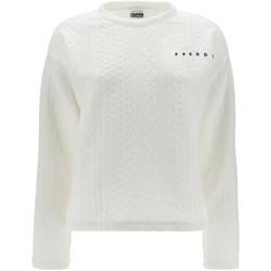 textil Dame Sweatshirts Freddy F1WSLS11 hvid