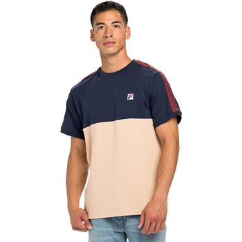 textil Herre T-shirts m. korte ærmer Fila 688985 Blå