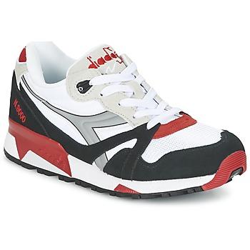 Sko Lave sneakers Diadora N9000  NYL Hvid / Sort / Rød