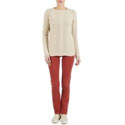 textil Dame Lærredsbukser Kulte PANTALON PLANCHER 101819 ROUGE Rød