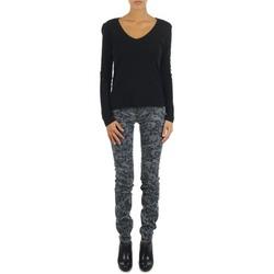 textil Dame Smalle jeans Gas TASCHE SUMATRA HIGH BLE BLACK Grå
