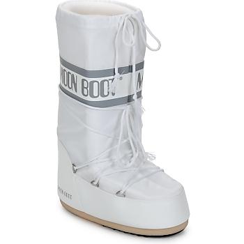 Sko Dame Vinterstøvler Moon Boot CLASSIC Hvid / Sølv