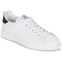 Sko Dame Lave sneakers Victoria DEPORTIVO BASKET PIEL Hvid / Sort