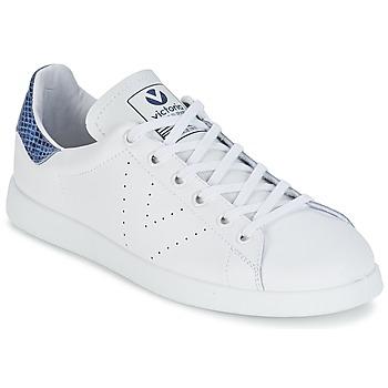 Sko Lave sneakers Victoria DEPORTIVO BASKET PIEL Hvid / Blå