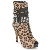 Sko Dame Høje støvletter Abbey Dawn PLATFORM BOOTEE Leopard / Print