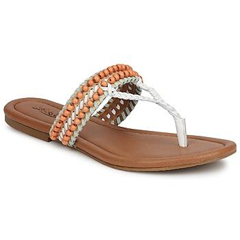 Sko Dame Sandaler Lucky Brand DOLLIS Hvid / Mynte