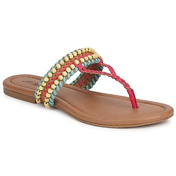 Sko Dame Sandaler Lucky Brand DOLLIS Mørk / Kamel / Teaberry / Capri / Blå
