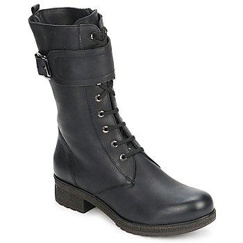 Sko Dame Chikke støvler Unisa BLACK Sort