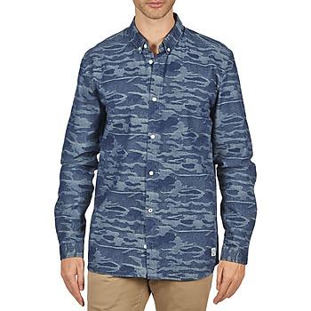 textil Herre Skjorter m. lange ærmer Suit ROD Blå