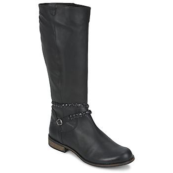 Sko Dame Chikke støvler So Size BERTOU Sort