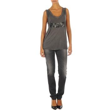 textil Dame Smalle jeans Diesel GETLEGG L.32 TROUSERS Grå