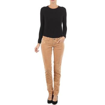 textil Dame Smalle jeans Diesel GRUPEE-F TROUSERS BEIGE