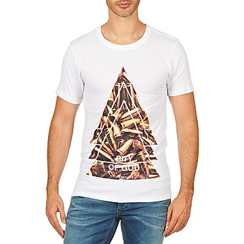 textil Herre T-shirts m. korte ærmer Eleven Paris CITYGOD M MEN Hvid