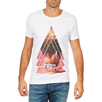 textil Herre T-shirts m. korte ærmer Eleven Paris MIAMI M MEN Hvid