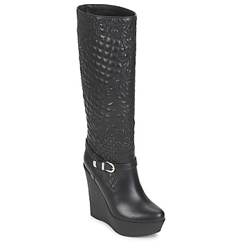 Sko Dame Chikke støvler Versace DSL909R Sort
