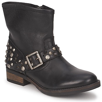 Sko Dame Støvler Pieces ISADORA LEATHER BOOT Sort