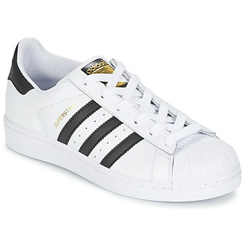 Sko Børn Lave sneakers adidas Originals SUPERSTAR Hvid / Sort