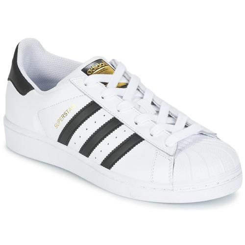 Sko Dreng Lave sneakers adidas Originals SUPERSTAR Hvid