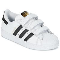Sko Børn Lave sneakers adidas Originals SUPERSTAR FOUNDATIO Hvid / Sort