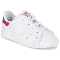 Sko Pige Lave sneakers adidas Originals STAN SMITH CRIB Hvid / Pink