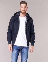 textil Herre Jakker Harrington HARRINGTON HOODED Marineblå