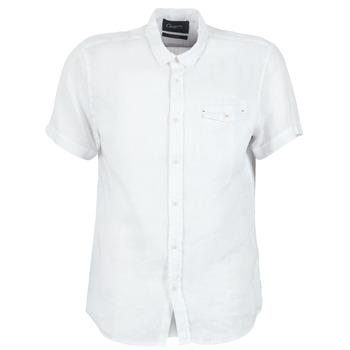 textil Herre Skjorter m. korte ærmer Chevignon C-LINEN Hvid