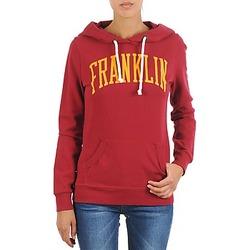 textil Dame Sweatshirts Franklin & Marshall TOWNSEND Rød