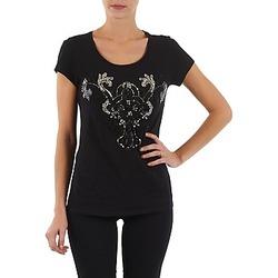 textil Dame T-shirts m. korte ærmer S.Oliver T-SHIRT MANCHES COUR Sort