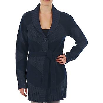 textil Dame Veste / Cardigans Gant N.Y. DIAMOND SHAWL COLLAR CARDIGAN Marineblå