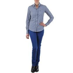 textil Dame Lige jeans Gant N.Y. KATE COLORFUL TWILL PANT Blå
