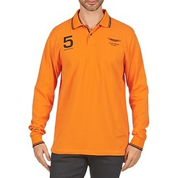 textil Herre Polo-t-shirts m. lange ærmer Hackett AMR DOUBLE TIP Orange