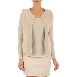 textil Dame Veste / Cardigans Majestic 241 BEIGE