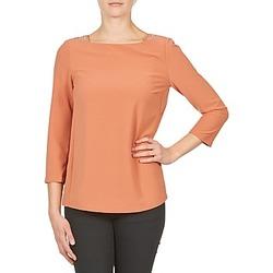 textil Dame Langærmede T-shirts Color Block 3214723 Koral
