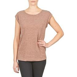 textil Dame T-shirts m. korte ærmer Color Block 3203417 Ældet / Pink / Marmoreret / Grå