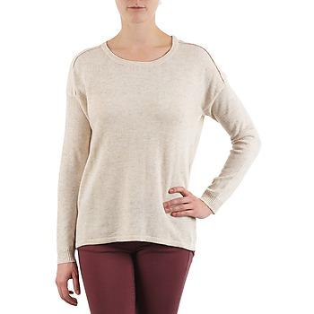 textil Dame Pullovere Color Block 3265194 Beige