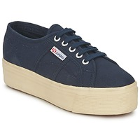 Sko Dame Lave sneakers Superga 2790 LINEA UP AND Marineblå