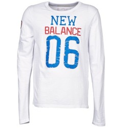 textil Herre Langærmede T-shirts New Balance NBSS1404 GRAPHIC LONG SLEEVE TEE Hvid