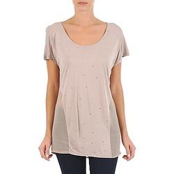 textil Dame T-shirts m. korte ærmer La City MC BEIGE Beige
