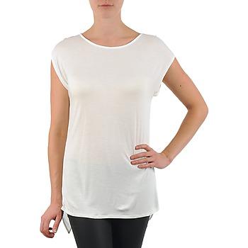 textil Dame T-shirts m. korte ærmer La City TS CROIS D6 Hvid