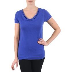 textil Dame T-shirts m. korte ærmer La City PULL COL BEB Blå