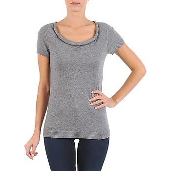 textil Dame T-shirts m. korte ærmer La City PULL COL BEB Grå
